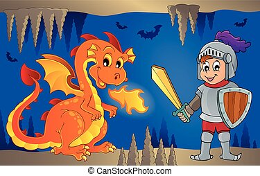 Fairy tale image with dragon 6