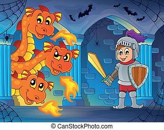 Fairy tale indoor theme 1 - eps10 vector illustration.