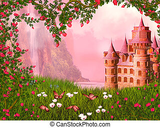 Fairy tale landscape - dreamy fairy tale background