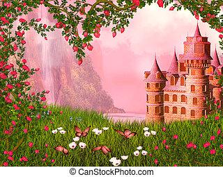 Fairy tale landscape - dreamy fairy tale background
