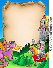 Fairy tale parchment 1 - color illustration.