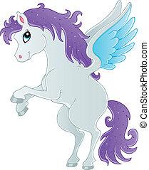 Fairy tale pegasus theme image 1