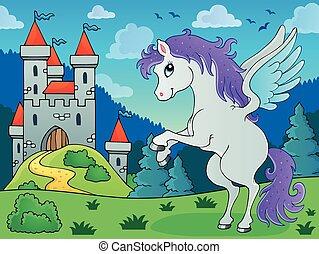 Fairy tale pegasus theme image 3