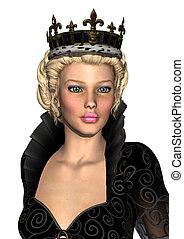 Fairy Tale Queen - 3D digital render of a beautiful...