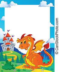 Fairy tale theme frame 3 - vector illustration.