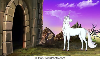Fairy Tale Unicorn goes to the Castle. Handmade animated...