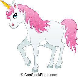 Fairy tale unicorn theme image 1 - vector illustration.