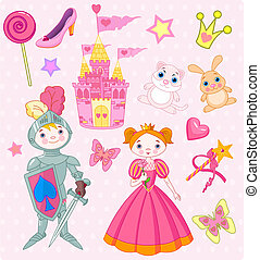 Fairy Tale Vector Elements - Vector Illustration of Fairy...