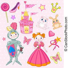 Vector Illustration of Fairy Tale design elements.