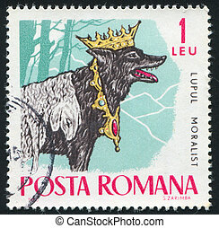 Fairy Tales - ROMANIA - CIRCA 1965: stamp printed by...