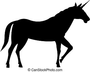 Fairy unicorn silhouette