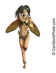 Fairy with Dreadlocks, 3d CG CA