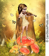 fairy with violin
