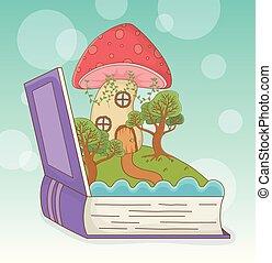 fairytale, 책, 열려라, 조경술을 써서 녹화하다