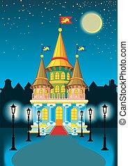 fairytale, bástya, éjszaka