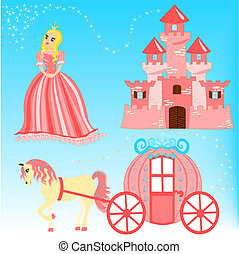 Fairytale cartoon illustration