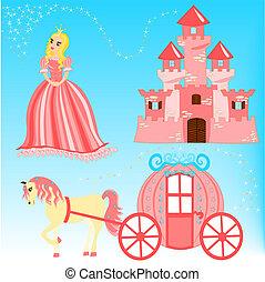 Fairytale cartoon illustration