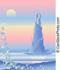 fairytale castle - an illustration of a beautiful fairytale...