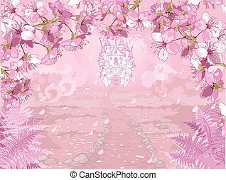 Fairytale castle - Illustration of fairytale castle