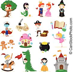 Fairytale Characters Cartoon Set