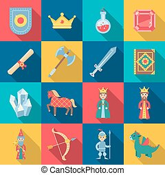 Fairytale Game Set - Fairytale game set with shield sword...