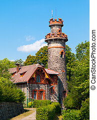 Fairytale house with tower