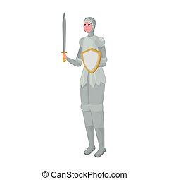 Fairytale knight cartoon vector design
