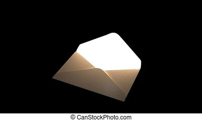 Fairytale mail. Mysterious letter with magic light. 69 -...