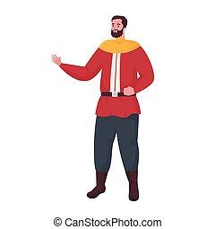 Fairytale prince cartoon vector design
