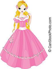 Illustration of fairytale princess