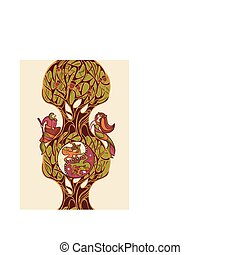 fairytale vector illustration - abstract vector illustration...