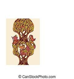 fairytale, wektor, ilustracja