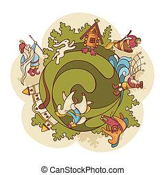 fairytale world composition