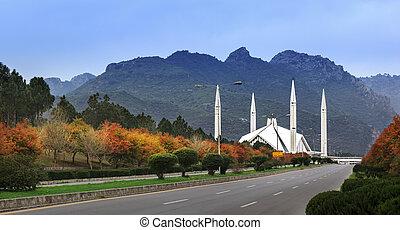 Faisal Mosque Islamabad Pakistan - Shah Faisal Mosque is one...