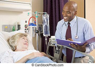 faisant effets, patient, sur, docteur