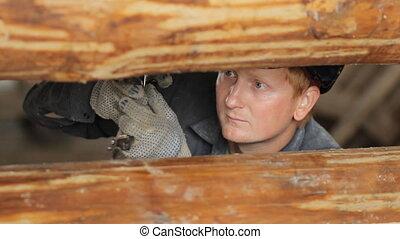 faisceau bois, ouvrier construction, fonctionnement