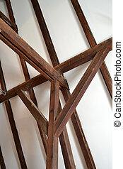 faisceau, construction, vieux, bois