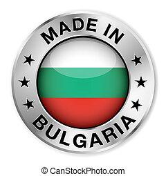fait, écusson, argent, bulgarie