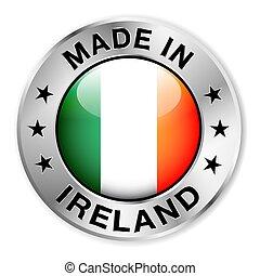 fait, écusson, argent, irlande