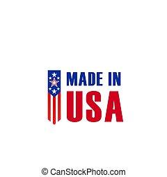 fait, étoile, usa, drapeau américain, vecteur, icône