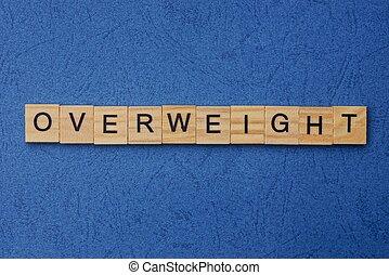 fait, bois, mot, brun, lettres, excès poids