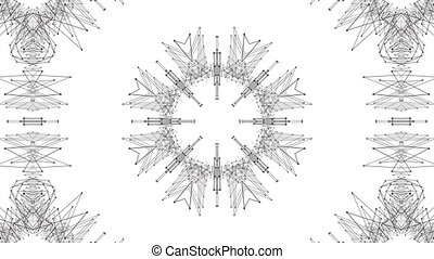 fait boucle, arrière-plan., 4k., résumé, wireframe, seamless, géométrie, v2, animation, noir, grille, 3d, circulaire