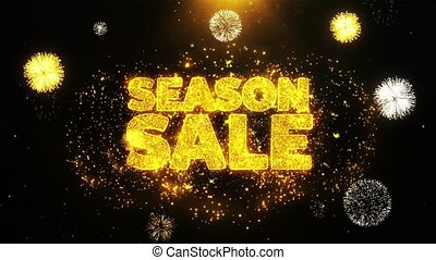 fait boucle, carte, saison, vente, invitation, voeux,...