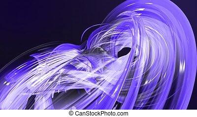 fait boucle, mouvement, torsade, fond, clair, circle., frisé, bleu, 20, seamless, créatif, animation, cercle, rubans, 3d, coloré, raies, verre., aimer, scintillements, lisser, formation, circulaire, brillant
