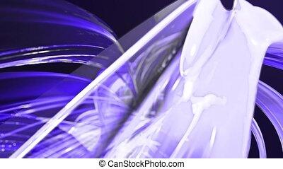 fait boucle, mouvement, torsade, fond, clair, circle., frisé, bleu, seamless, créatif, animation, cercle, rubans, 3d, coloré, raies, verre., aimer, 14, scintillements, lisser, formation, circulaire, brillant