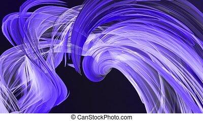 fait boucle, mouvement, torsade, fond, clair, circle., frisé, bleu, seamless, créatif, animation, cercle, rubans, 3d, coloré, raies, verre., 15, aimer, scintillements, lisser, formation, circulaire, brillant