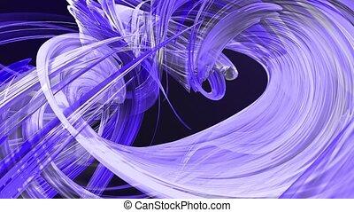 fait boucle, mouvement, torsade, fond, clair, circle., frisé, bleu, seamless, créatif, animation, cercle, rubans, 3d, coloré, raies, verre., 11, aimer, scintillements, lisser, formation, circulaire, brillant
