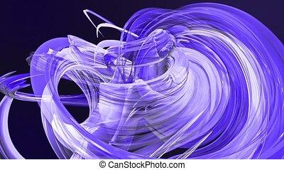 fait boucle, mouvement, torsade, fond, clair, circle., frisé, bleu, seamless, créatif, animation, cercle, rubans, 3d, coloré, raies, verre., 10, aimer, scintillements, lisser, formation, circulaire, brillant