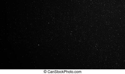 fait boucle, seamless., animation., dynamique, flotter, lent, voler, particules, noir, étoiles, 3840x2160, 3d, space., fond, poussière, hd, aimer, air, mouvement, 4k, ultra, vent