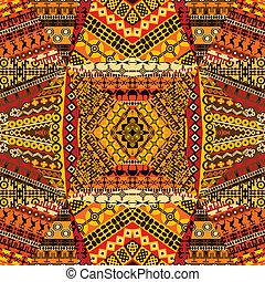 fait, collage, textile, motifs, africaine, patchworks